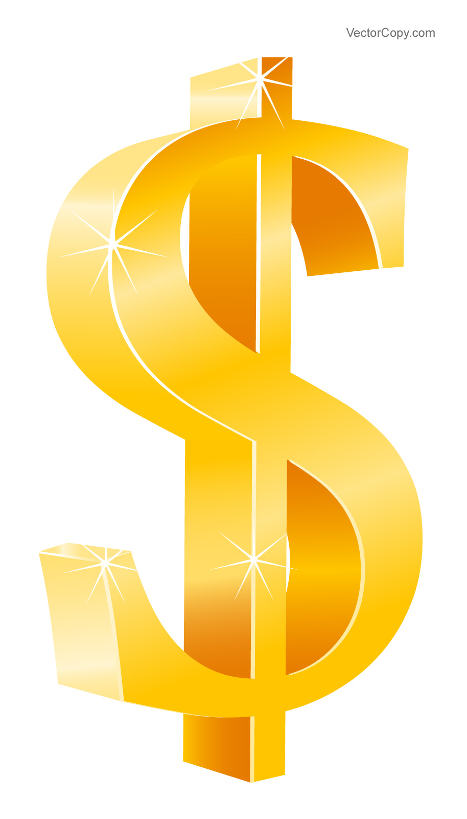 Gold Dollar Sign Icon