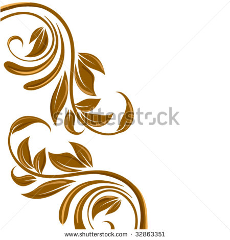 17 Swirl Floral Vector Borders Images - Vector Floral ...