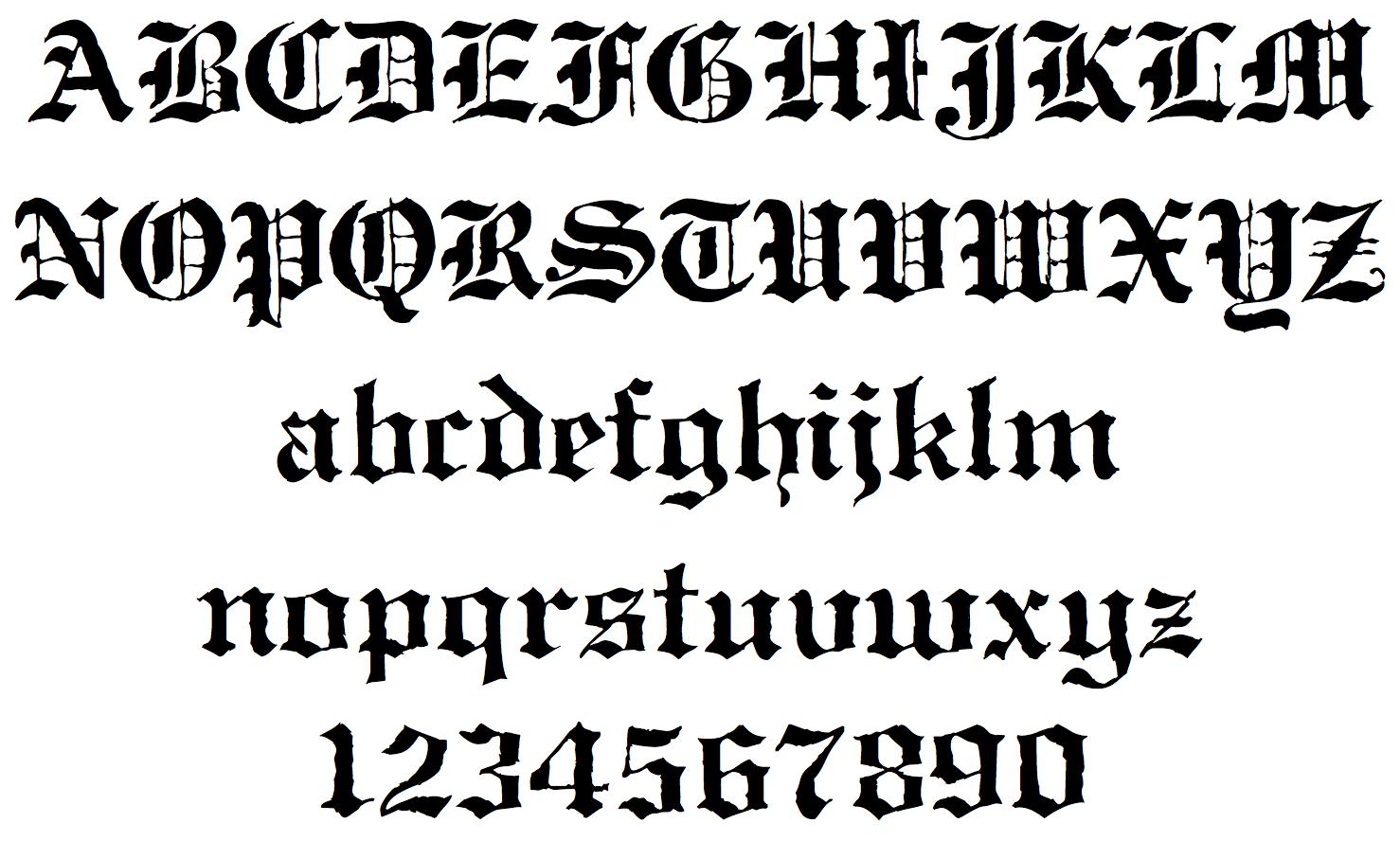 Gothic Calligraphy Font Images Alphabet
