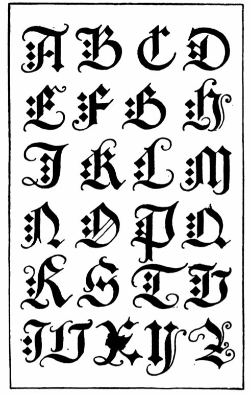Gothic Calligraphy Tattoo Fonts
