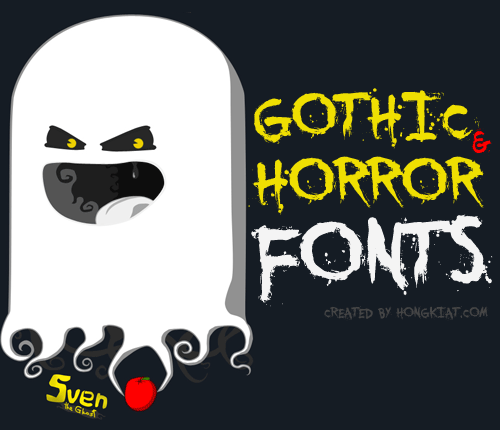 14 Scary Gothic Fonts Images