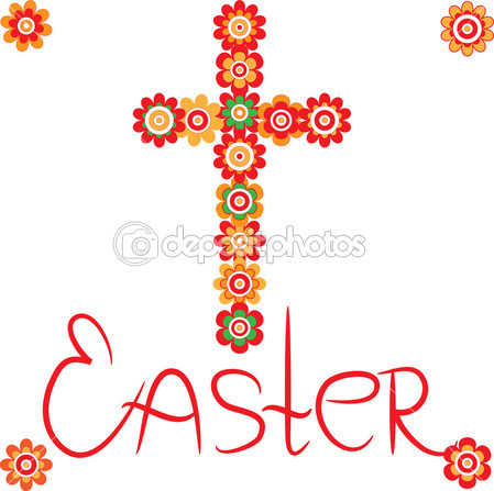 Happy Easter Cross Clip Art