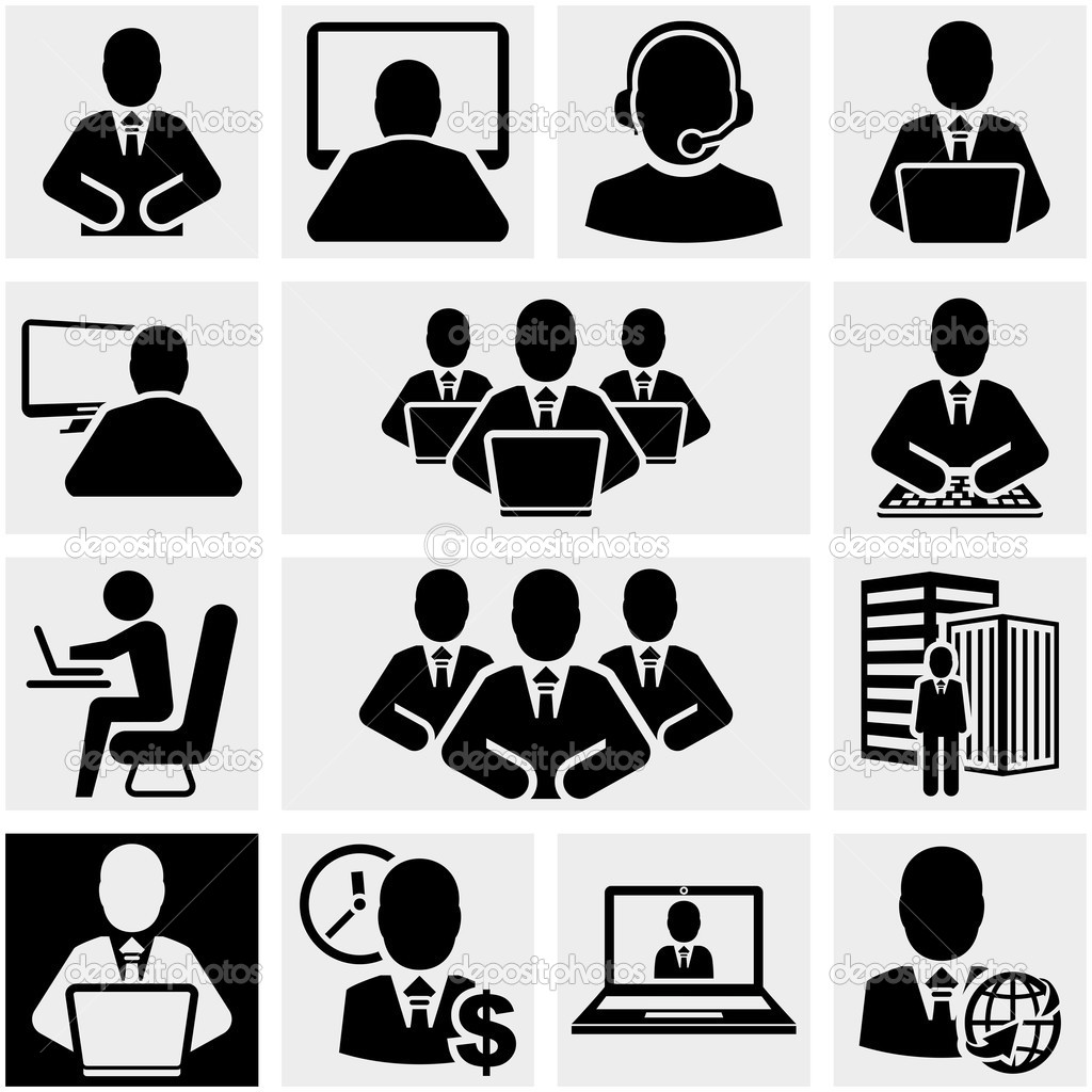 Icons Vector Business Men