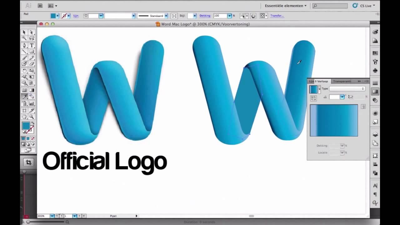 Illustrator Word Logo
