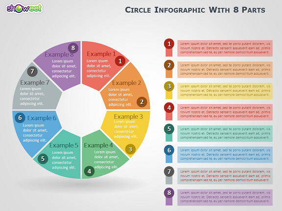 Infographic PowerPoint Template Circle