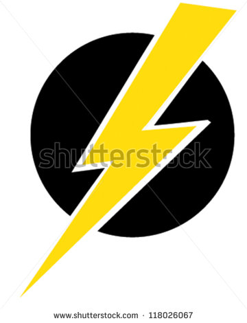 13 Lightning Bolt Retro Logo Vector Images