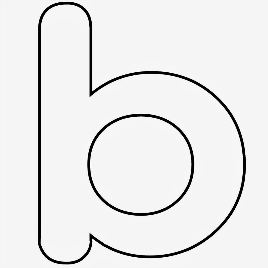 Lowercase Letter B Template
