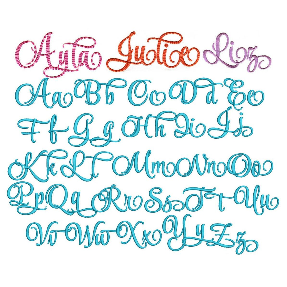 14 Machine Embroidery Script Fonts Images Simple