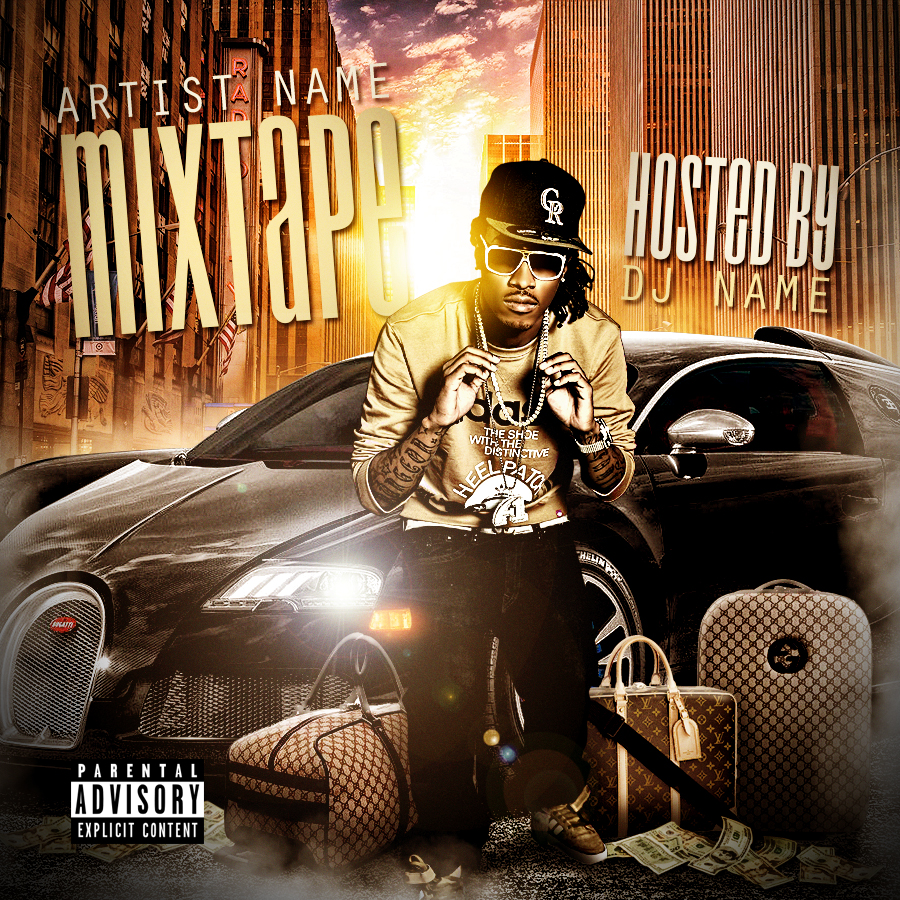 Psd mixtape cover design pictures to pin on pinterest pinsdaddy for Mixtape template