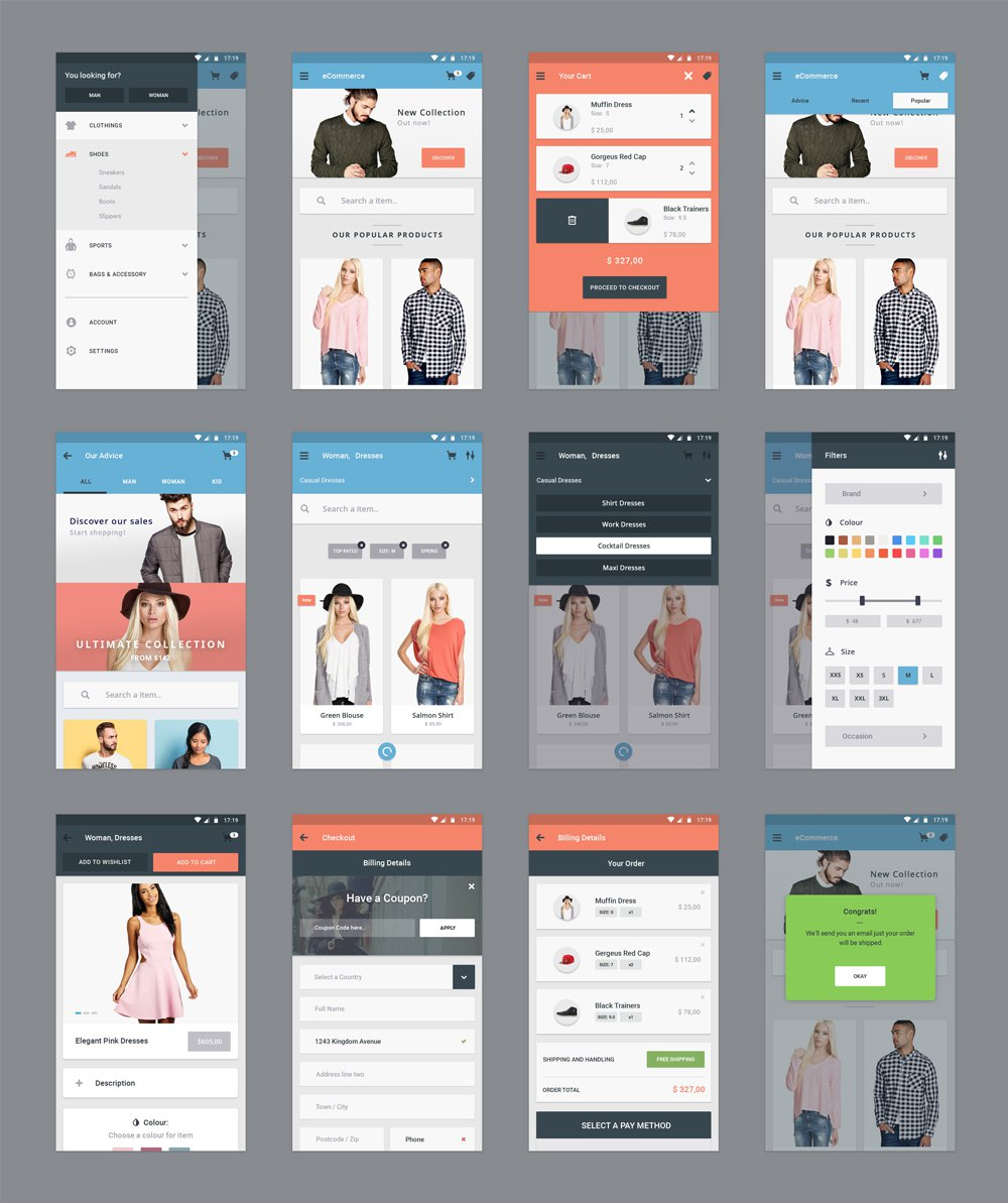 Mobile App Design PSD Free Download