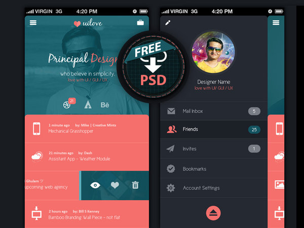Mobile App Design Templates
