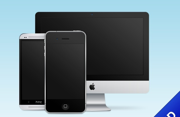Mobile Devices PSD Templates Free