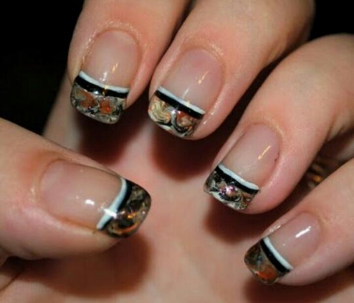 Mossy Oak Camo Acrylic Nails