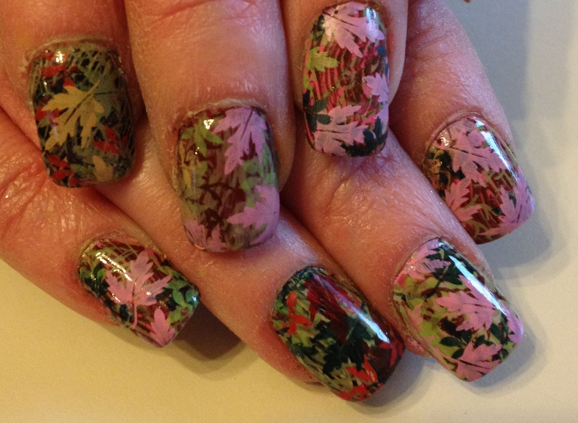 Mossy Oak Camo Nail Tips