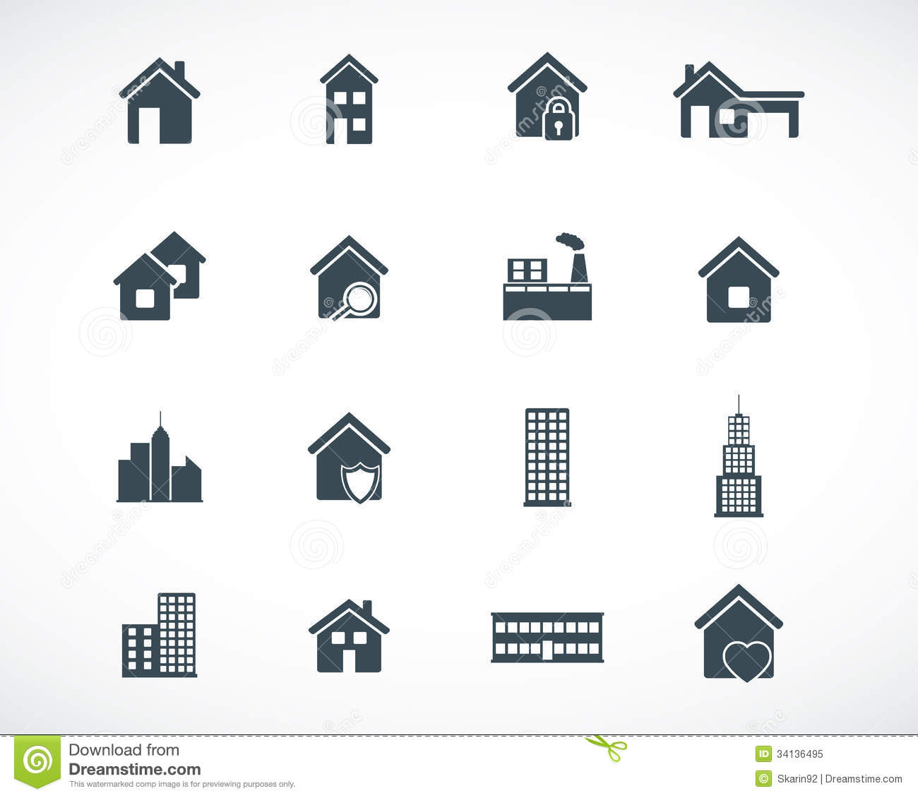 20 Vector Building Icon Images