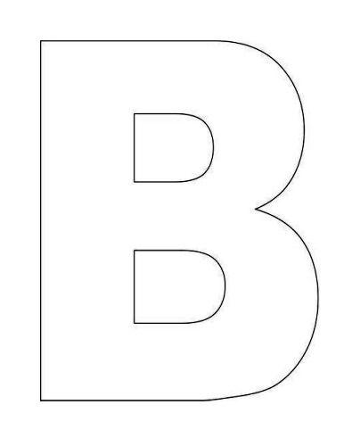 Printable Letter B Template