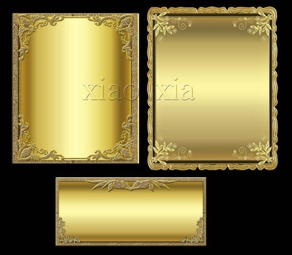 14 Golden Border PSD Images