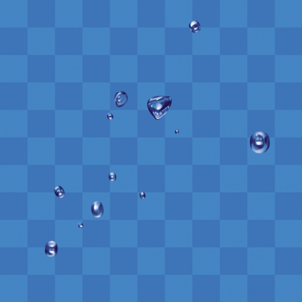 PSD Water Droplets