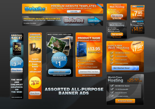 11 Free PSD Web Banner Templates Images