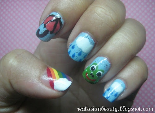 Rain Cloud Nail Art Designs