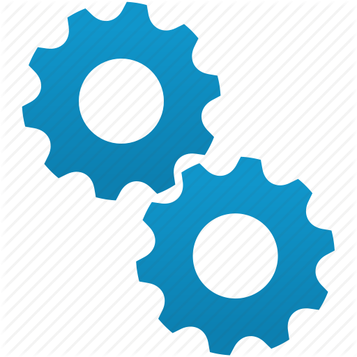 Settings Gear Icon Blue
