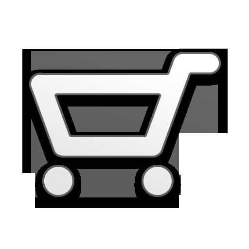 Shopping Cart Icon White