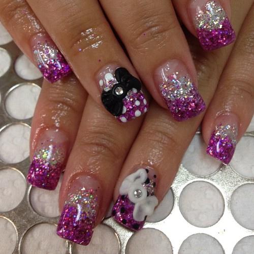 Short Acrylic Nails Purple