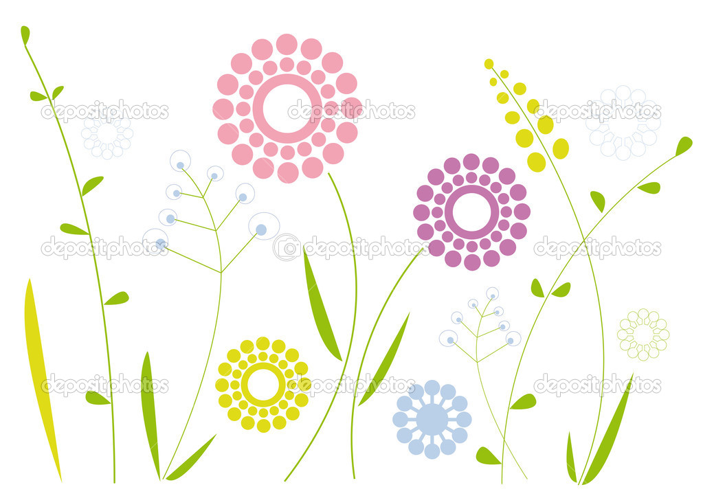 Simple Abstract Floral Design