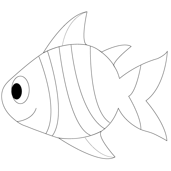 Simple Easy Fish Drawings