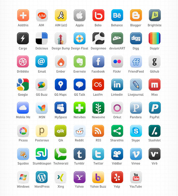 11 Social Media Icons Images