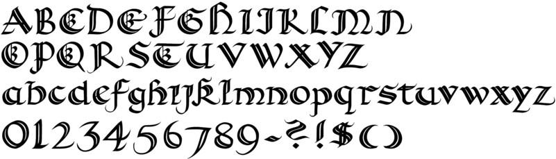 Spanish Calligraphy Font