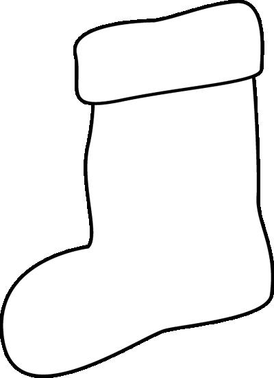 Stocking Clip Art Black and White