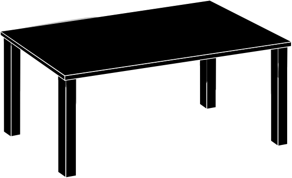 15 Black Vector Tables Images