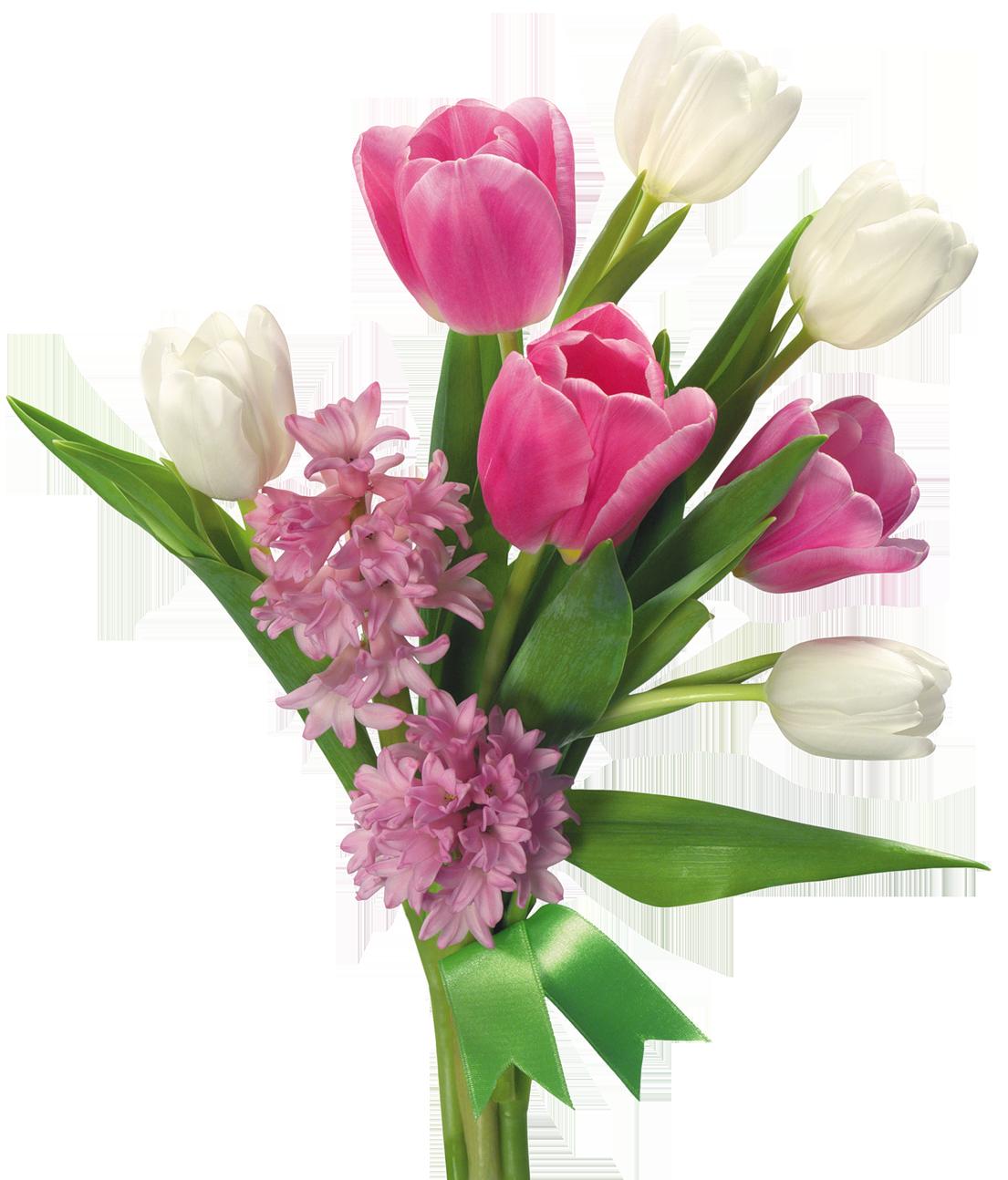 Transparent Spring Flowers Bouquet