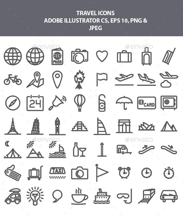 13 Misc Travel Icon Images