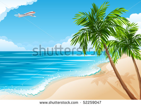 10 Beach Landscape Vector Black Images