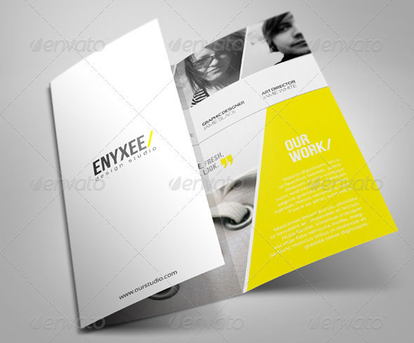 Unique Tri-Fold Brochure Template