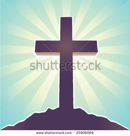 Vector Easter Cross