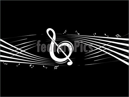 Music Notes Wallpaper Black And White 17 Note Vector Images