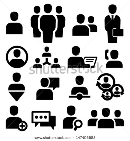 12 Group Of People Icon Vector Images