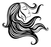 11 Vector Woman With Long Hair Images