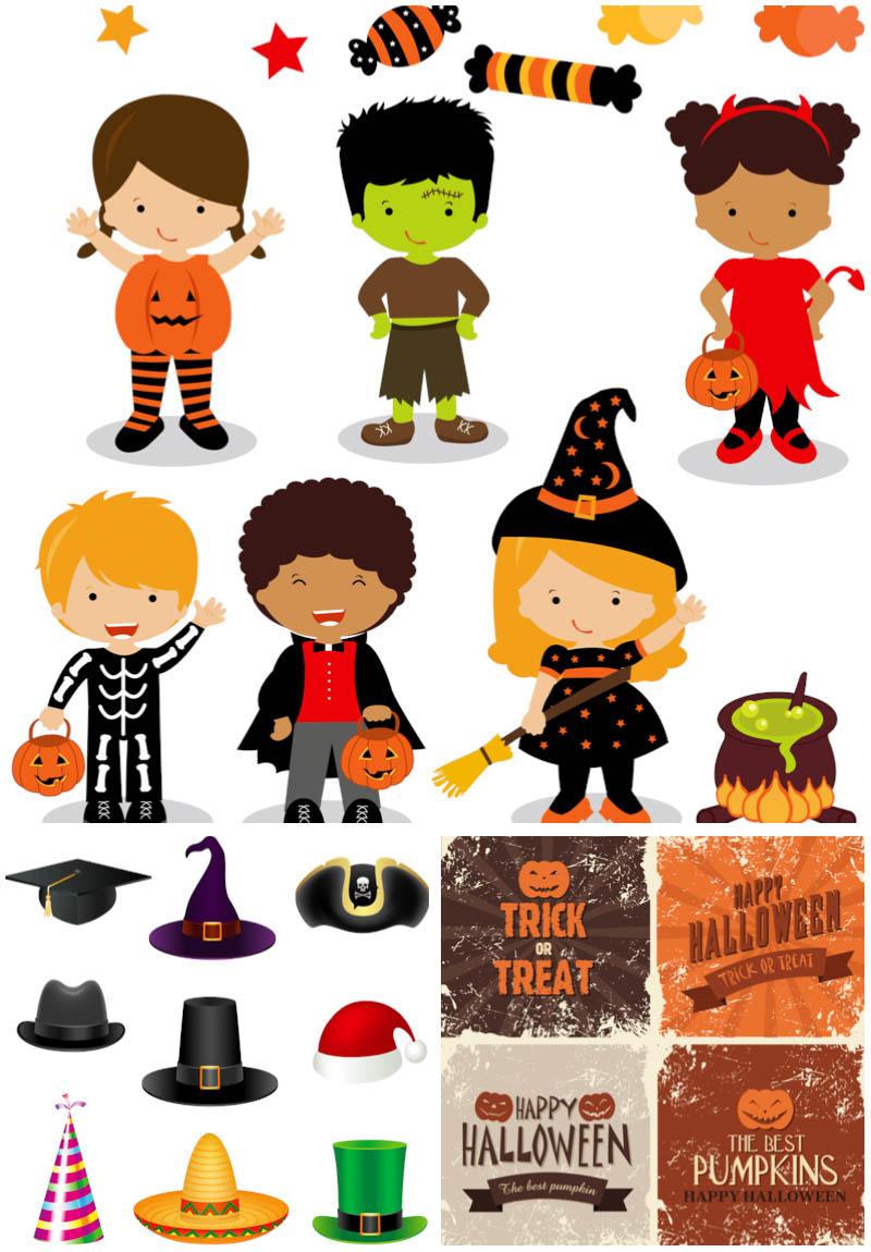 Vectors Halloween Costume Kids