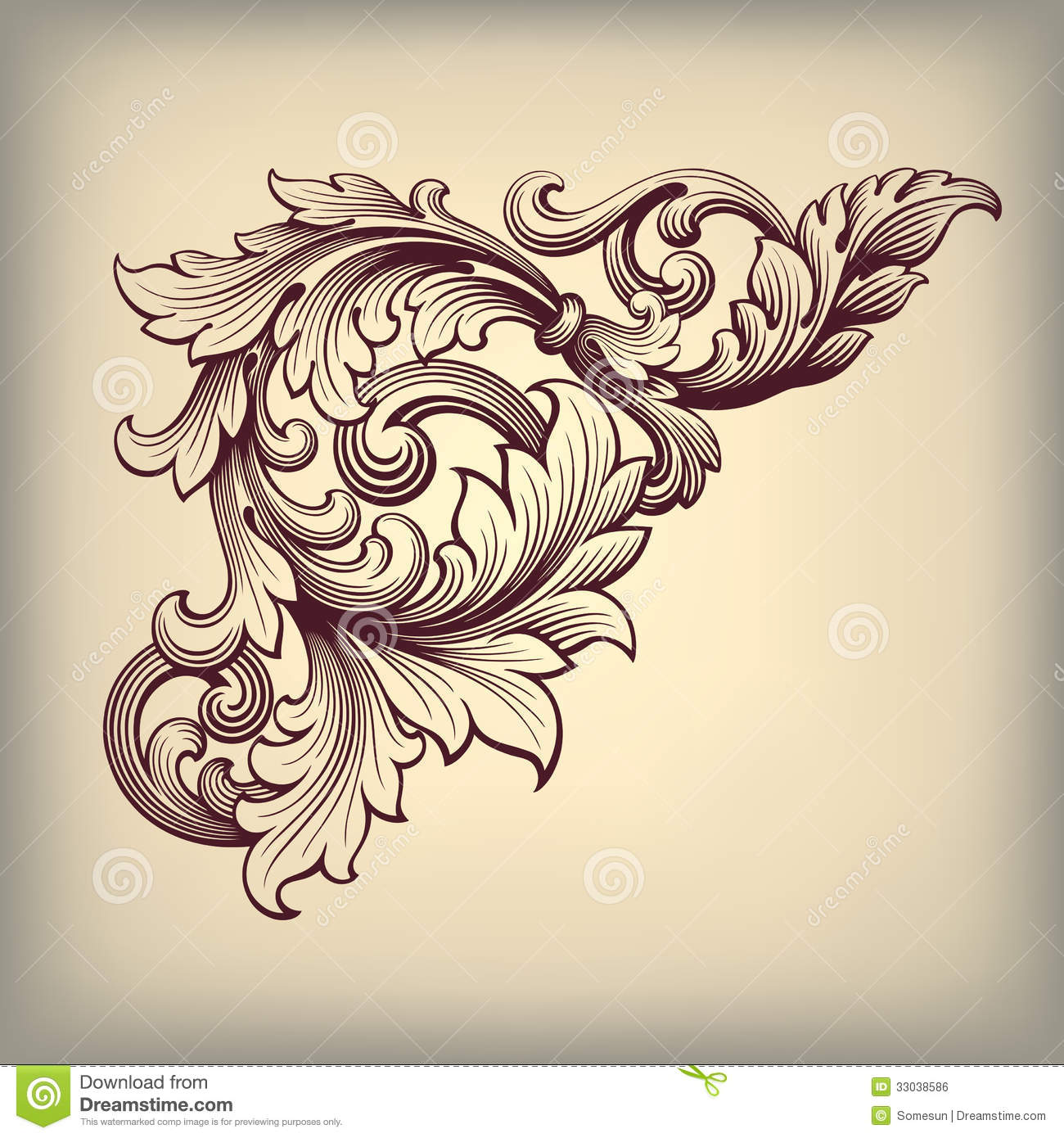 13 Baroque Scroll Designs Images