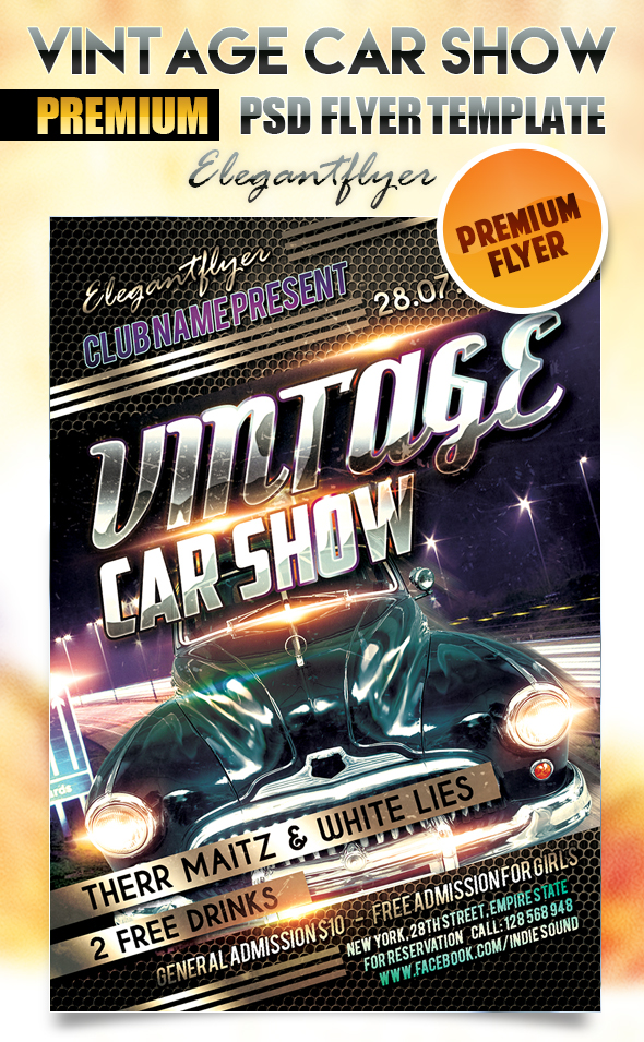 13 Car Show Flyer Template Psd Images - Car Show Flyer Template