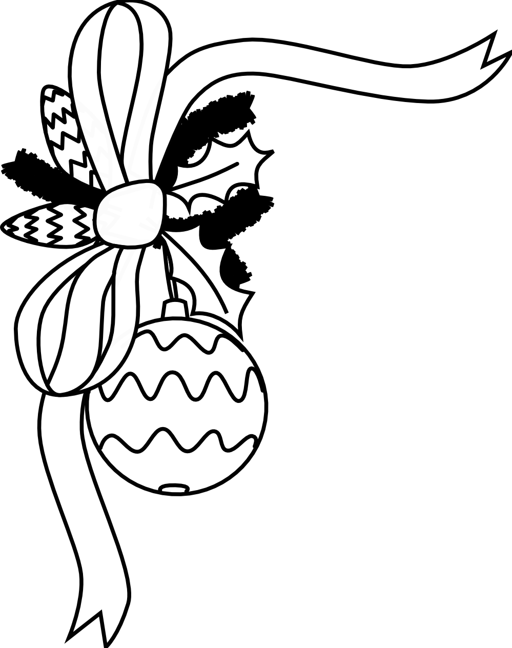 Vintage Christmas Clip Art Black And White