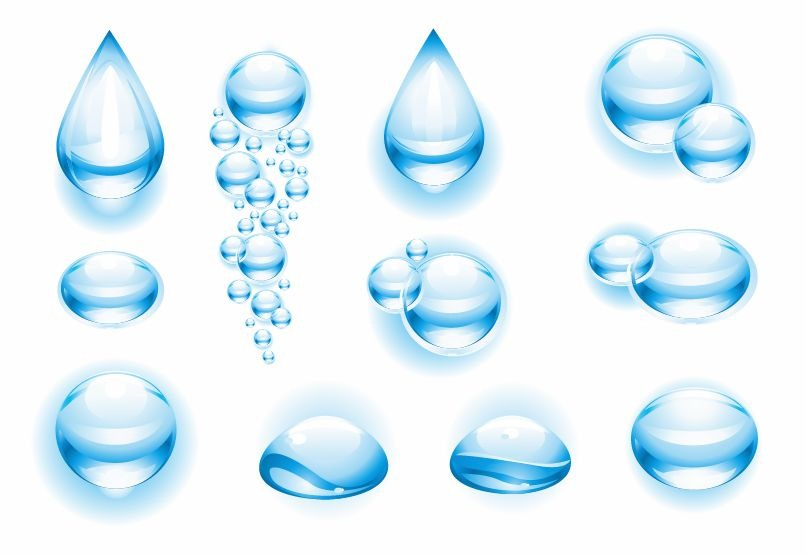 18 Water Droplet Vector Art Images