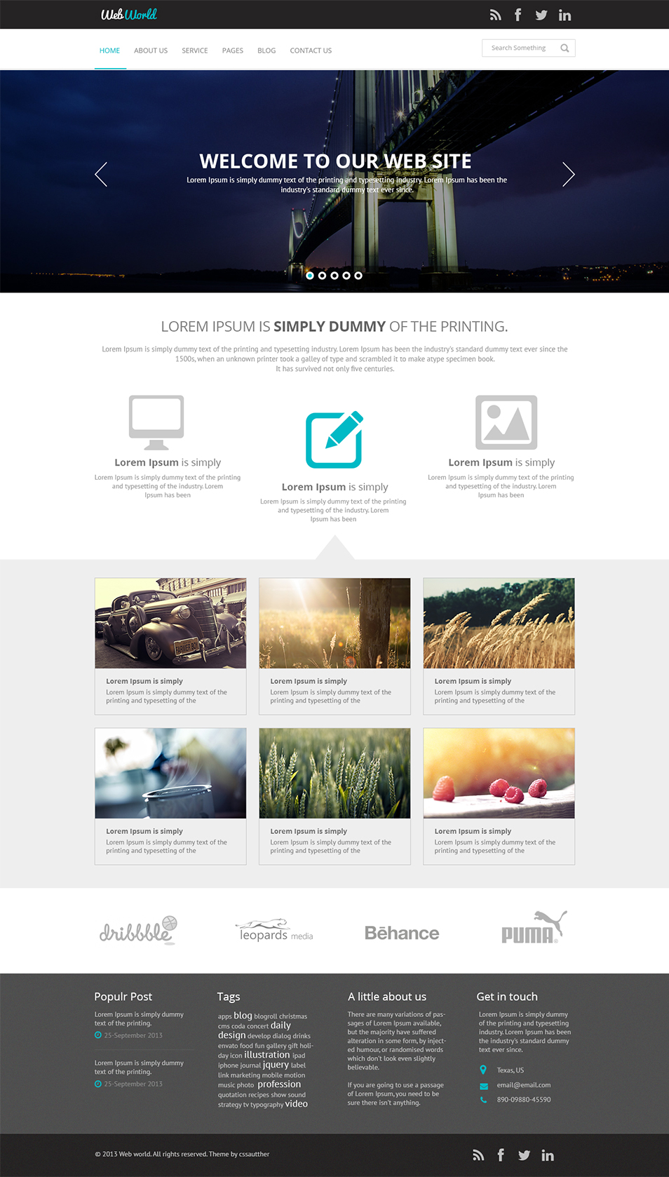 12 free business website template psd images business for Website layout design software free download