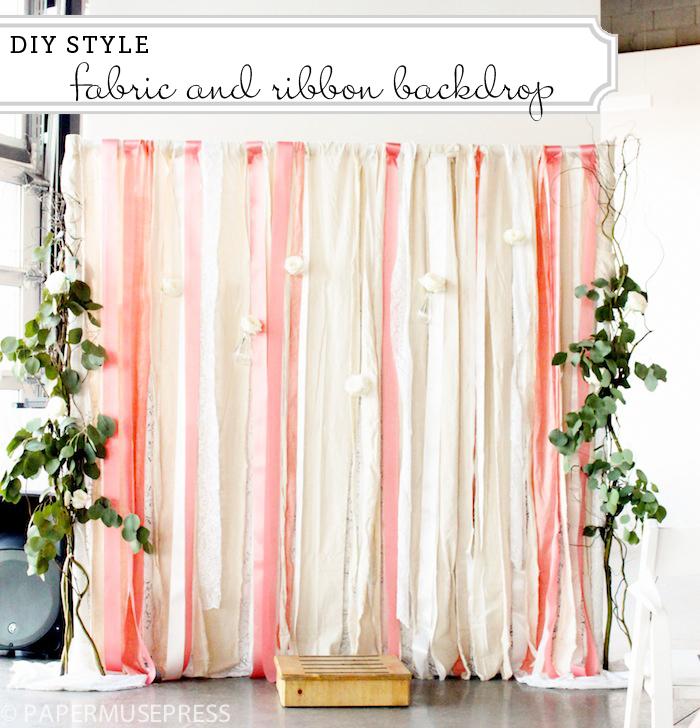 Wedding Backdrops DIY Ribbons