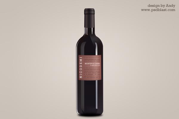 Wine Bottle Graphic