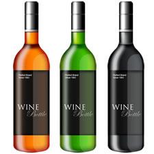 Wine Bottle Template PSD
